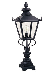 Grampian Pedestal Lantern Black H86cm - London Lighting - 1