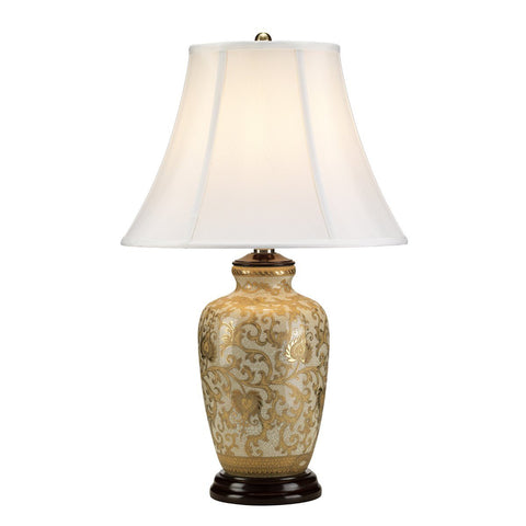 Gallows Gold Flora Table Lamp c/w Shade - ID 8371