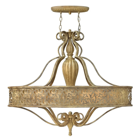 Hinkley Carabel 6 Light Oval Chandelier - London Lighting - 1