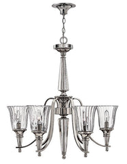 CHANDON - 6 Lamp Chandelier - London Lighting - 1