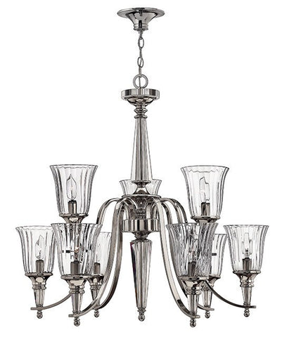 CHANDON - 9 Lamp Chandelier - London Lighting - 1