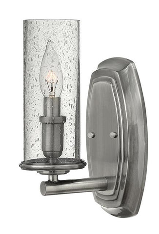 Single Polished Antique Nickel Wall Light