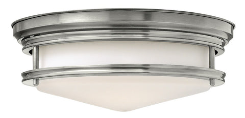 HADLEY - Antique Nickel Flush - London Lighting - 1