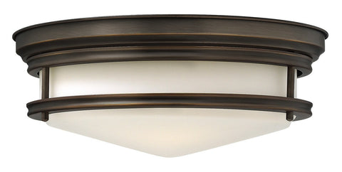 HADLEY -Oil Rubbed Bronze Flush - London Lighting - 1