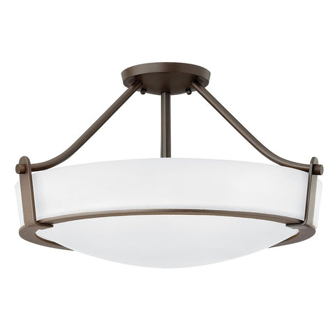 Semi Flush Four Light Olde Bronze