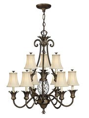 Plantation 10 Lamp Chandelier Pearl Bronze - London Lighting - 1