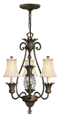 PLANTATION (PZ) - 3+1 Lamp Chandelier - London Lighting - 1