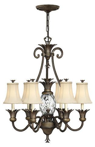 Plantation 7 Lamp Chandelier Pearl Bronze - London Lighting - 1