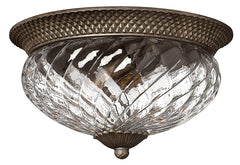 Plantation 3 Lamp Large Flush Pearl Bronze - London Lighting - 1