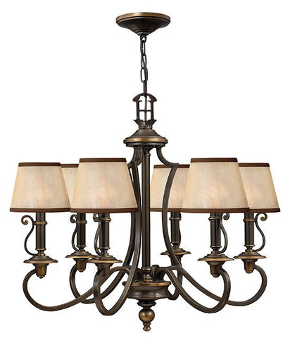 Plymouth 6 Lamp Chandelier - London Lighting - 1