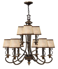 Plymouth 9 Lamp Chandelier - London Lighting - 1