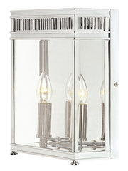 Holborn Half Lantern Medium Polished Chrome - London Lighting - 1