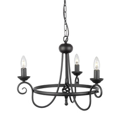 Harlech 3 Light Chandelier - London Lighting - 2