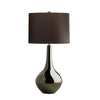 Metallic Glaze Ceramic Table Lamp With Brown Shade - ID 8372