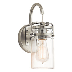 Brinley One Light Brushed Nickel Wall Light