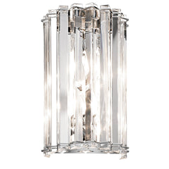 Two Light Chrome Wall Light