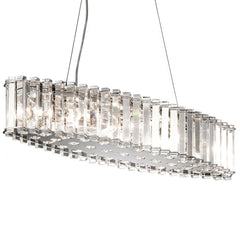 Eight Light Chrome Island Chandelier