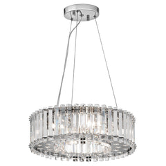 Six Light Chrome Pendant Light