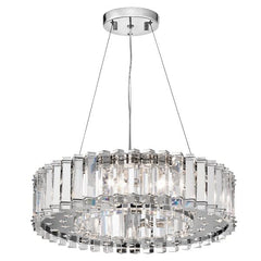 Crystal Skye Eight Light Chrome Chandelier