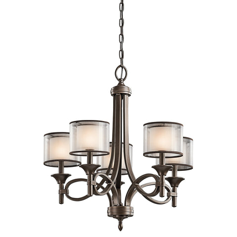 Kichler Lacey 5 Light Chandelier - London Lighting - 1