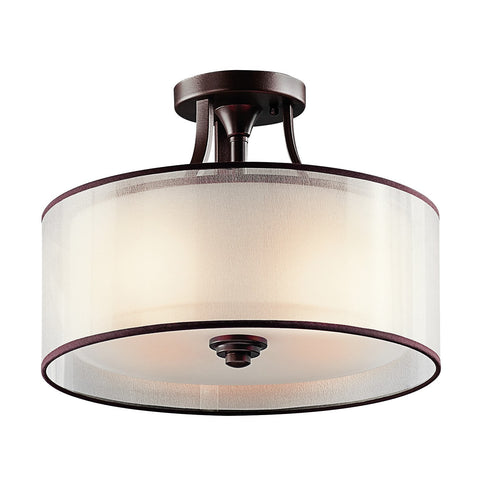 Kichler Lacey Small Semi-Flush Mount Light - London Lighting - 1