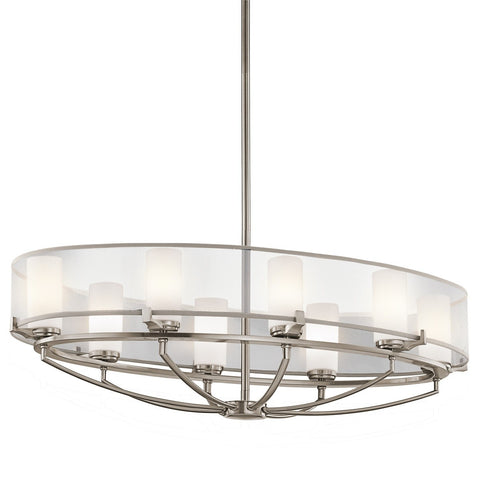 Kichler Saldana 8 Light Oval Chandelier - London Lighting - 1