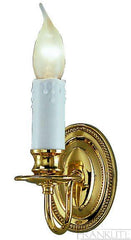 A Single Arm Wall Light Finished in Polished Brass