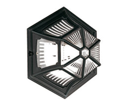 Parish Flush Ceiling or Wall Lantern in Black - London Lighting - 1