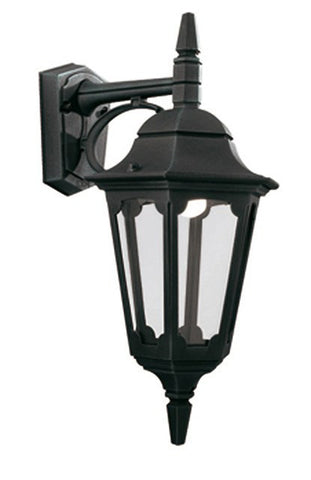 Parish Down Wall Lantern Black - London Lighting - 1