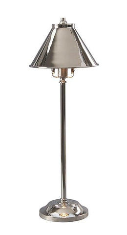 Provence One Polished Nickel Copper Stick Desk Lamp