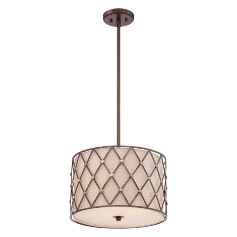 Quoizel Brown Lattice Medium Pendant Light - London Lighting - 1