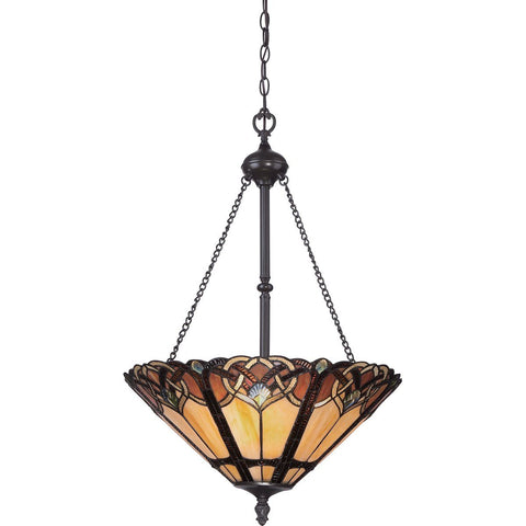 Three Light Vintage Bronze Pendant Light