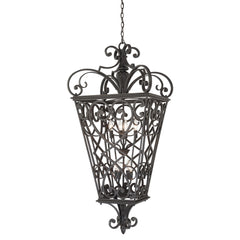 Quoizel Fort Quinn 8 Light Chain Lantern - London Lighting - 1