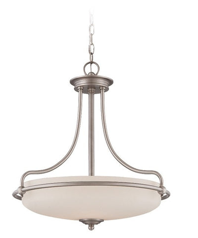 Griffin Pendant Light in Antique Nickel - London Lighting - 1