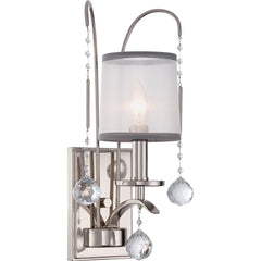 Whitney One Light Imperial Silver Wall Light