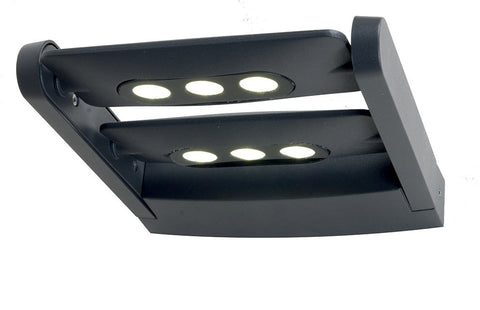 Lutec Ledspot 6W Twin Head Wall Light - London Lighting - 1