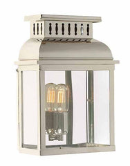Westminster Wall Lantern Polished Nickel - London Lighting - 1
