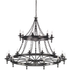 Warwick 18 Light Chandelier Graphite - London Lighting - 1