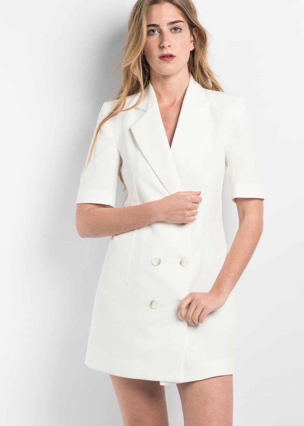Doble breasted 2/4 Sleeve Blazer Dress
