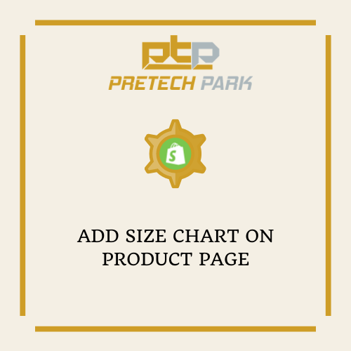 ADD SIZE CHART ON PRODUCT PAGE