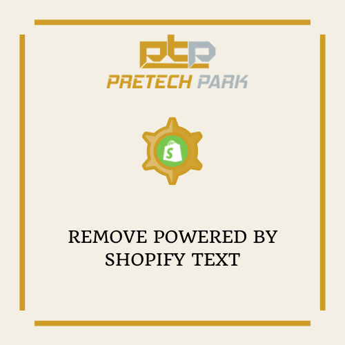 REMOVE POWERED BY SHOPIFY TEXT