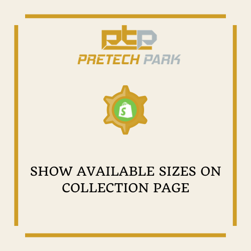 SHOW AVAILABLE SIZES ON COLLECTION PAGE