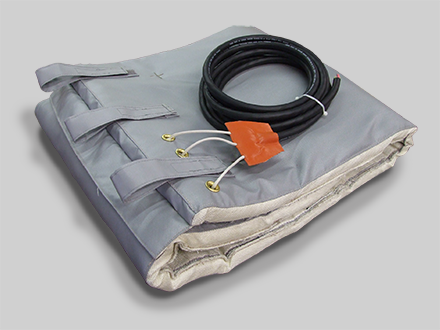 Flat Blanket, 3 Phase Power with Insulation and Closure Straps