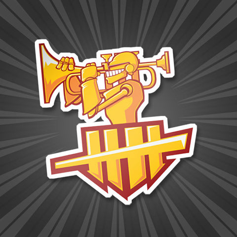 Trumpetzooka Sticker