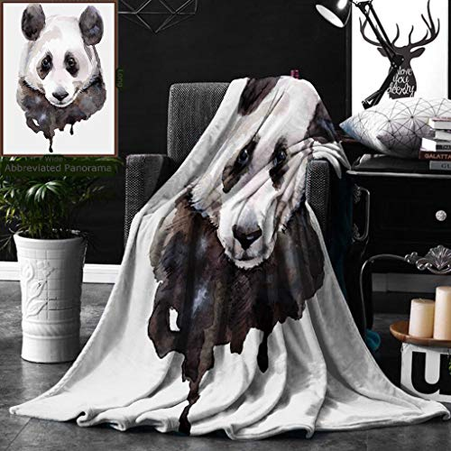Unique Custom Digital Print Flannel Blankets Animal Two Coyote Wolf Partners Under Snowy Winter Day Wild Creatures Mammal Pictu Super Soft Blanketry for Bed Couch, Throw Blanket 50 x 70 Inches