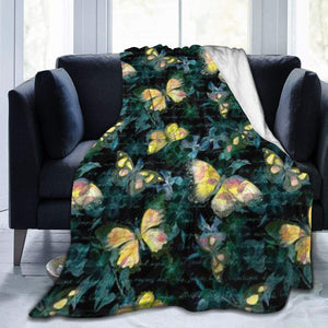 "Usie2s Throw Many Beautiful Butterflies Custom Fleece Plush Throw Blanket Smooth and Soft Microfiber Blanket Flannel Sofa Chair Bed Blanket Office New Year Gift Men and Women 80""x60"""