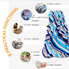 Load image into Gallery viewer, smallbeefly Floral Custom printed Throw Blanket Abstract Style Flower Petals Summer Season Inspired Design in Blue Color Pattern Velvet Plush Throw Blanket Indigo White
