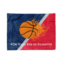 Load image into Gallery viewer, Washington DC Custom Youth Basketball Fleece Throw Blanket - Personalized Kids Team Blankets for Boy Girls Sports