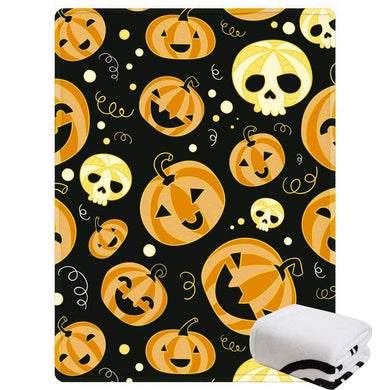 Morebee Halloween Punpkin Cat Fleece Throw Blanket Soft Custom Design Lightweight Blanket for Bed Couch Sofa Travelling Camping for Kids Girls Boys Adults(30