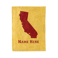 Load image into Gallery viewer, State Pride Series California - Personalized Custom Fleece Throw Blankets with Your Family Name - Los Angeles Edition